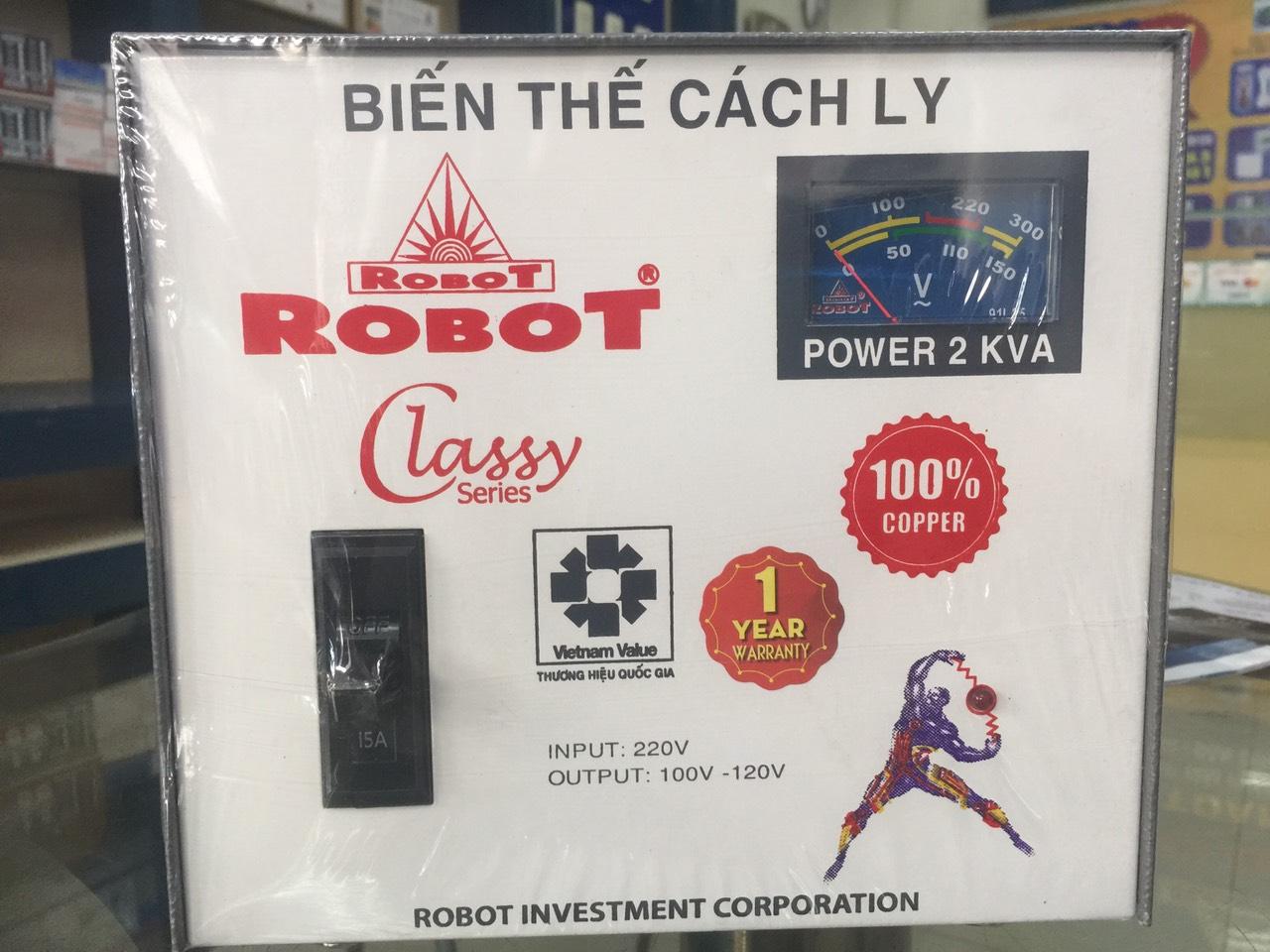 Biến Thế Cách Ly Robot 2KVA (Dây đồng)