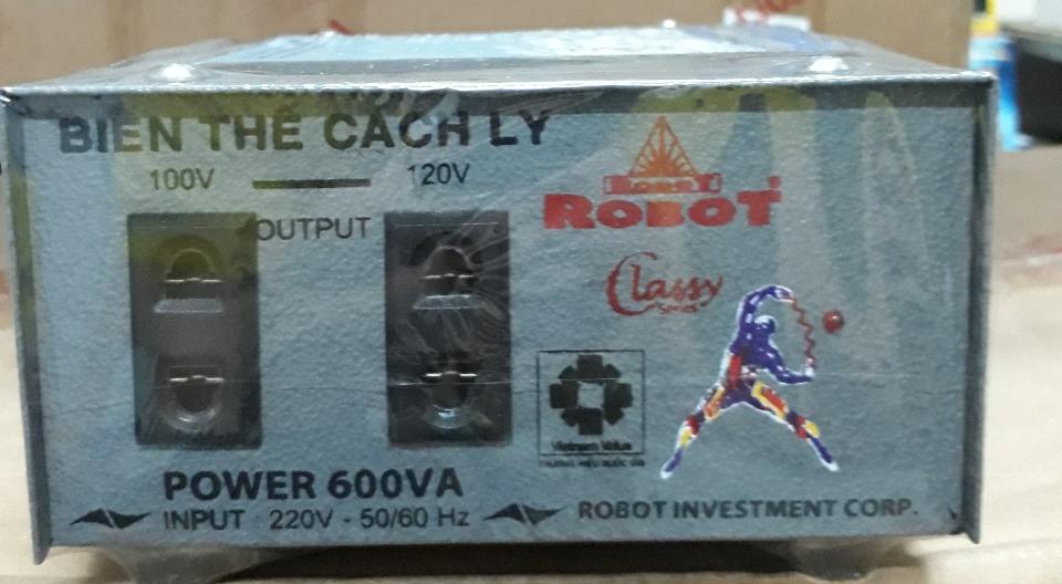 Biến Thế Cách Ly Robot 600VA (Dây đồng)