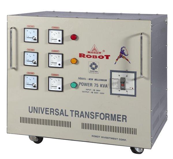 Biến Thế Đổi Điện 3 Pha Robot 75KVA (Dây đồng)