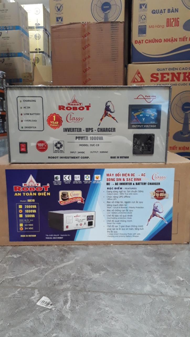 Máy Đổi Điện DC-AC Robot 1000VA-24V sóng sin