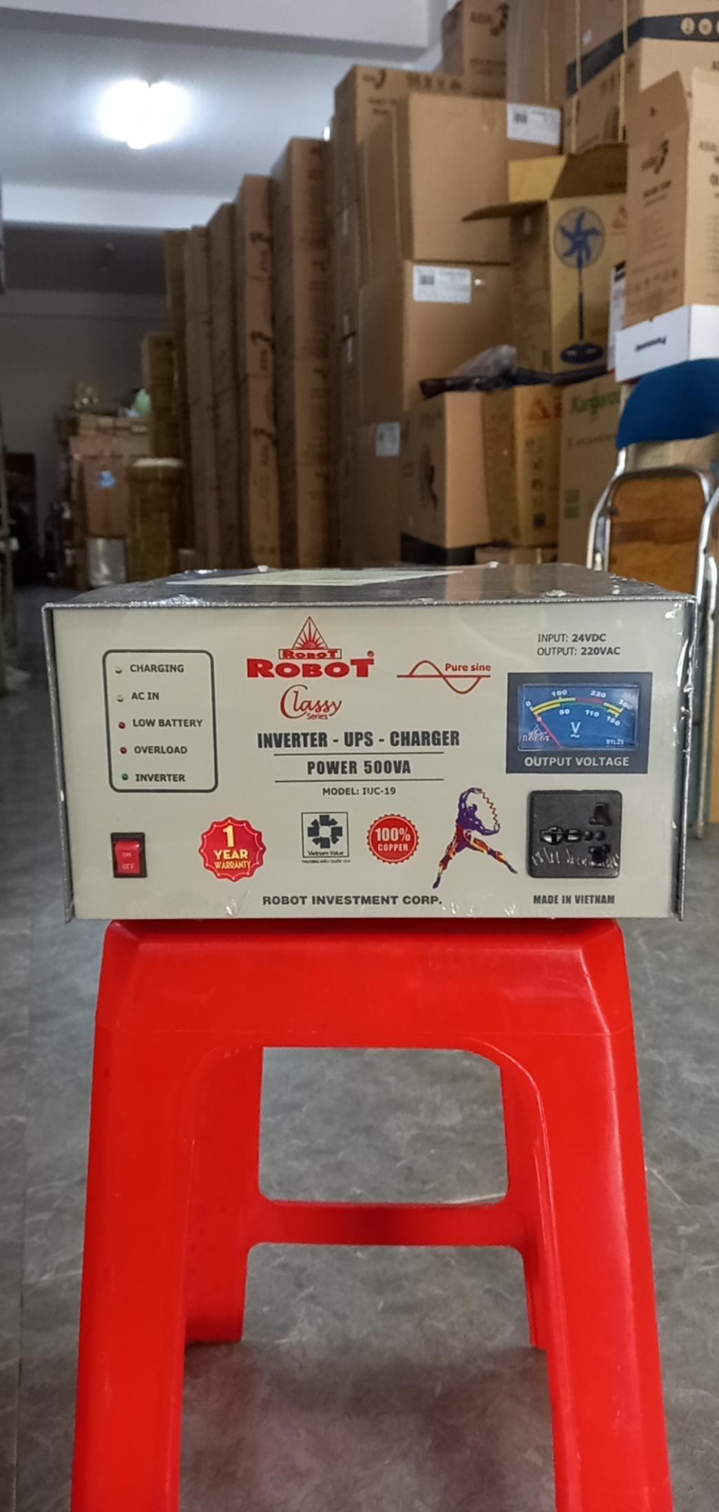 Máy Đổi Diện DC-AC Robot 500VA-24V sóng sin