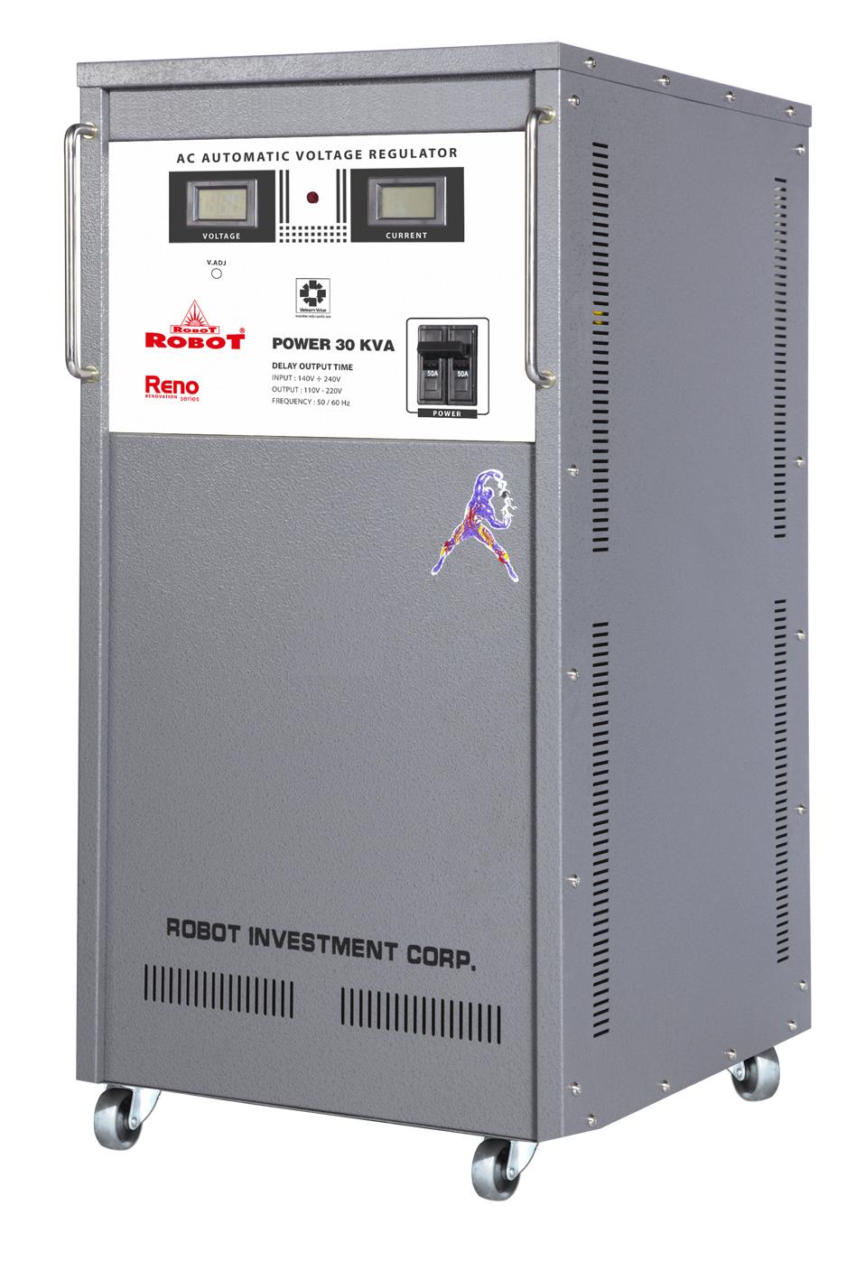 Ổn Áp Robot Reno 30KVA (90-250V) - Reno 818