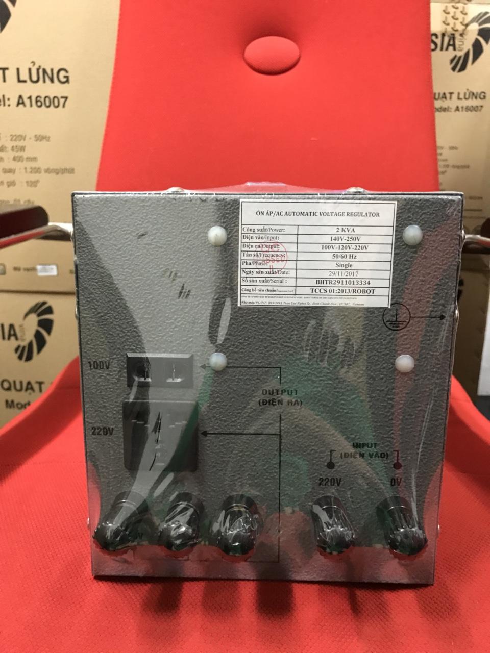 Ổn Áp Robot Reno 2KVA (60-240V) - Reno 818