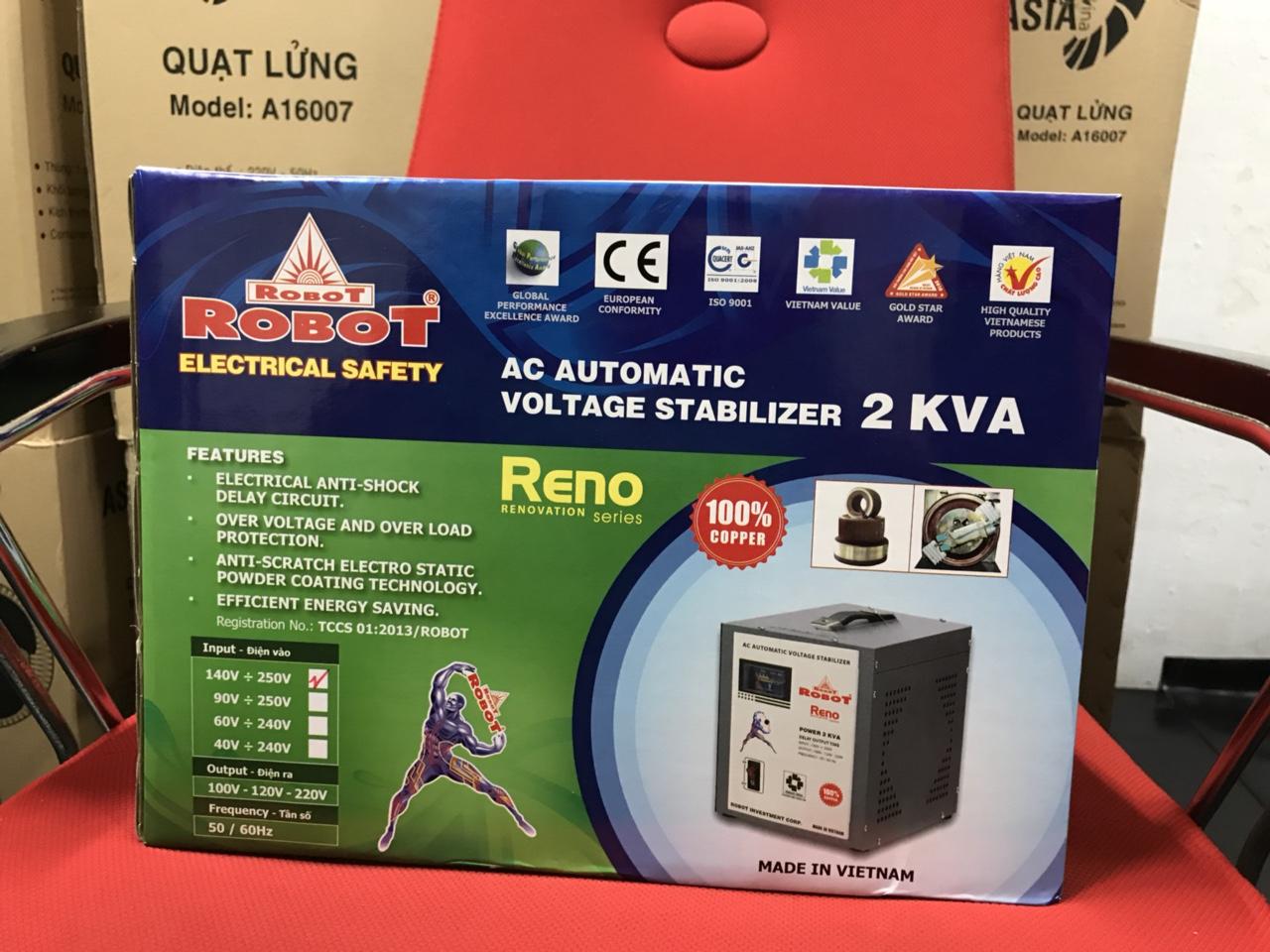 Ổn Áp Robot Reno 2KVA (140-250V) - Reno 818