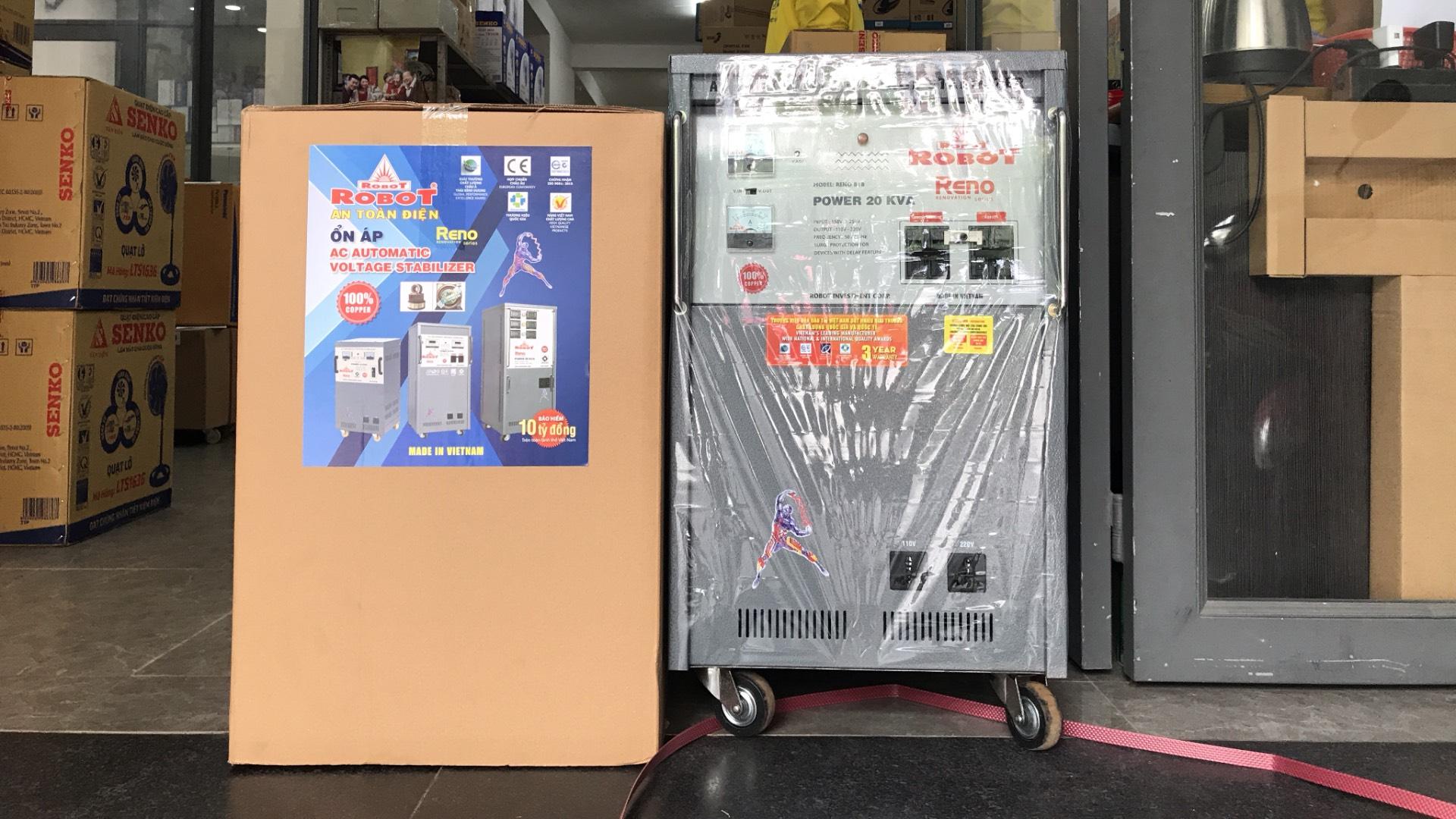 Ổn Áp Robot Reno 20KVA (150-250V) - Reno 818