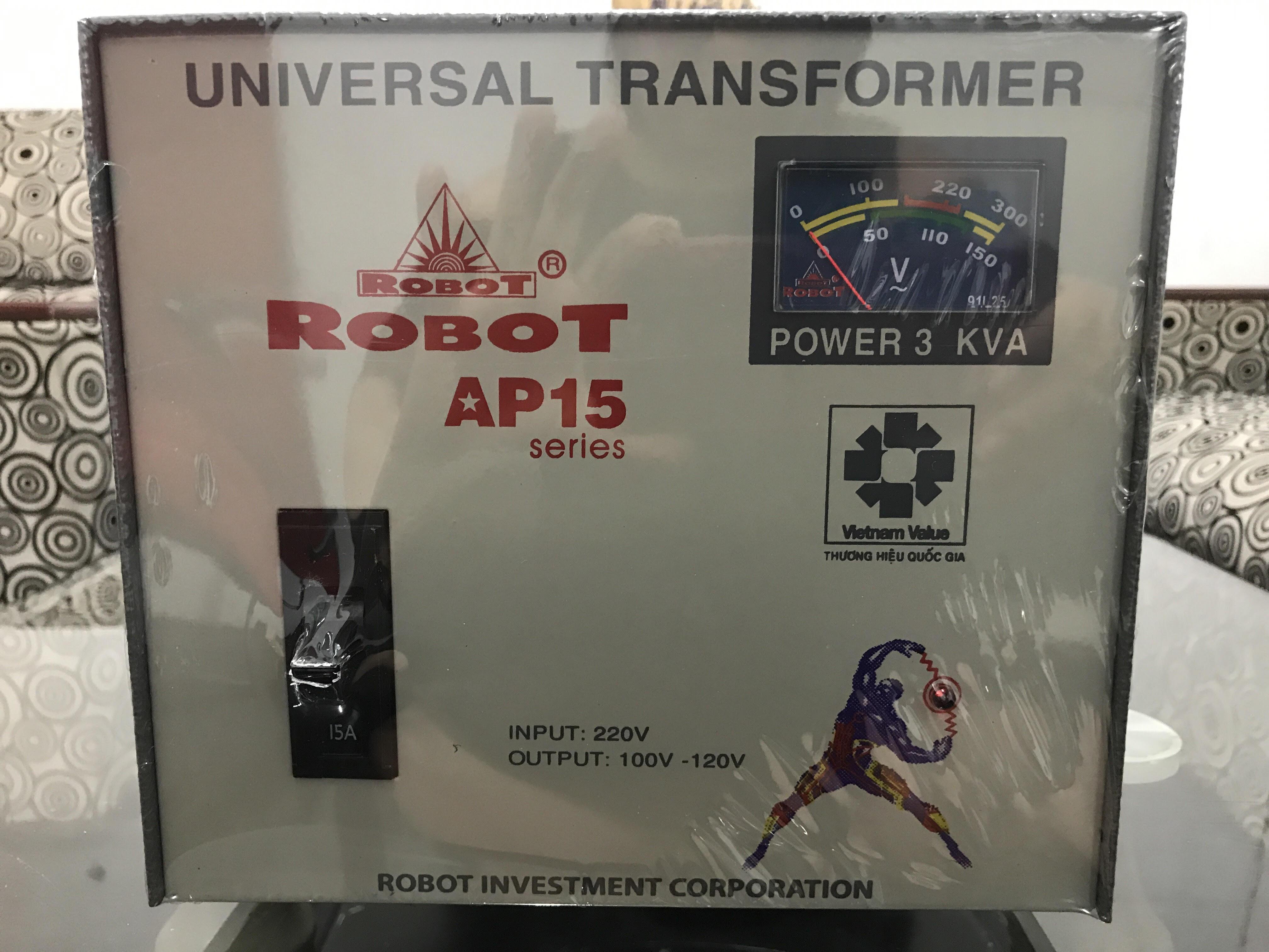 Biến Thế Đổi Điện 1 Pha Robot 3KVA