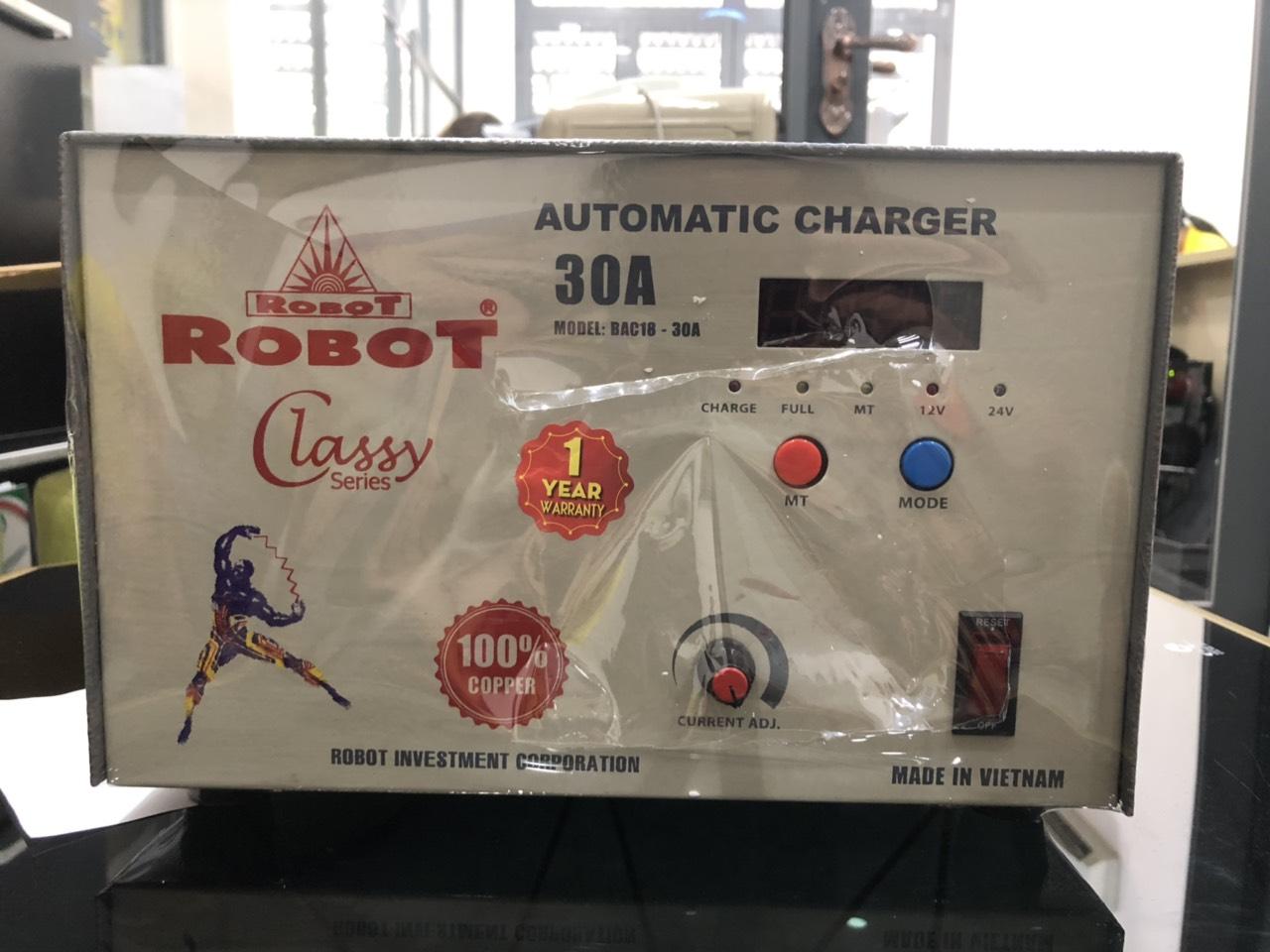 Sạc Tự Động Robot 30A (Dây đồng)