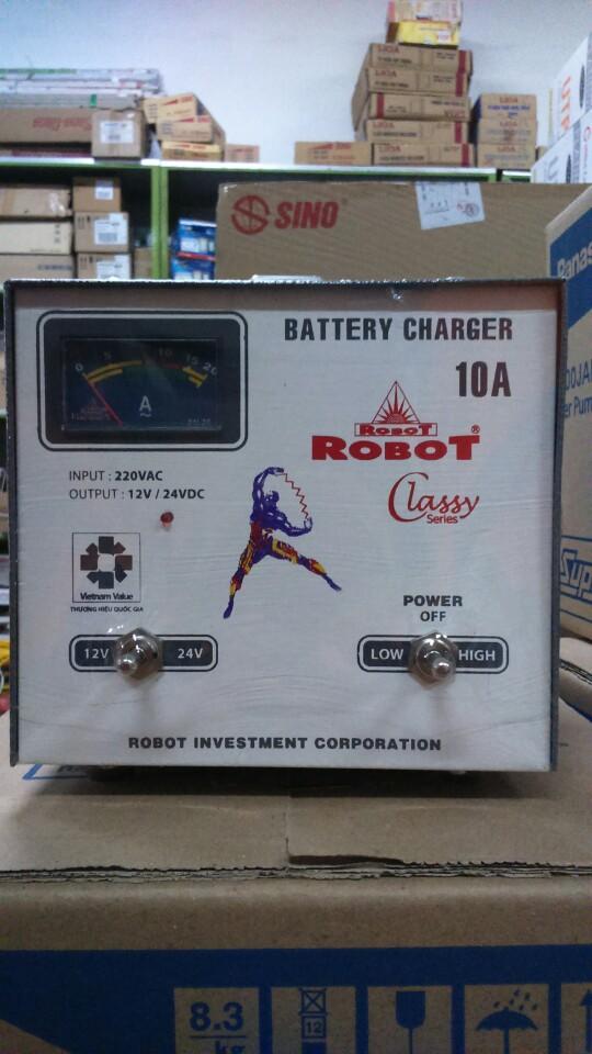 Sạc Tăng Giảm Robot 10A (12-24VDC) - (Dây đồng)