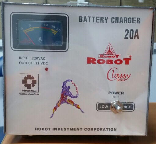 Sạc Tăng Giảm Robot 20A 12VDC - (Dây đồng)