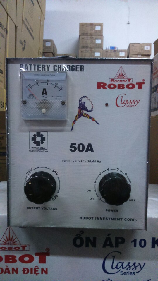 Sạc Tăng Giảm Robot 50A (Dây đồng)