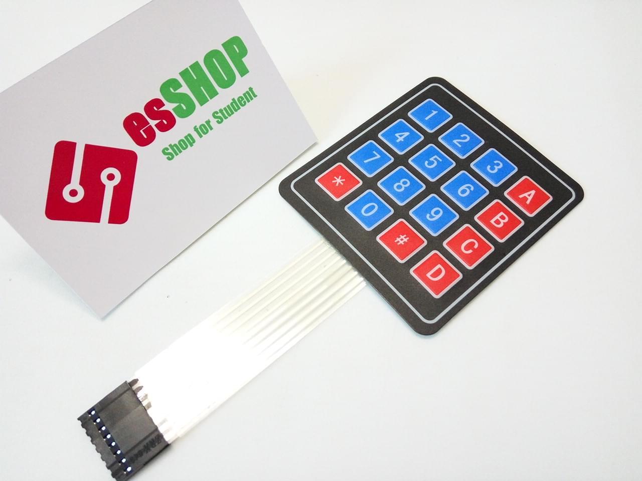 B0117 - Bàn phím ma trận mềm 4x4 loại dán