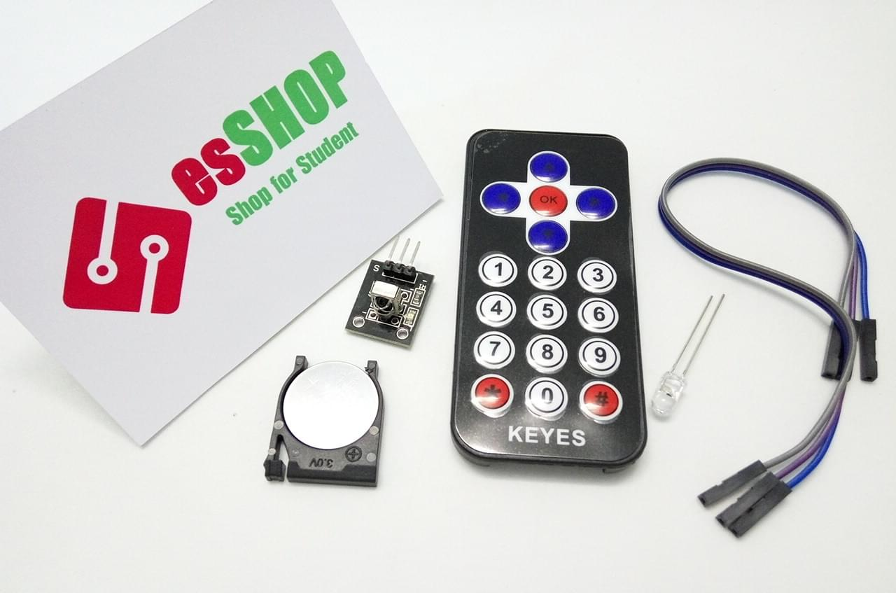 B0120 - Remote + Module thu hồng ngoại - Kèm Pin