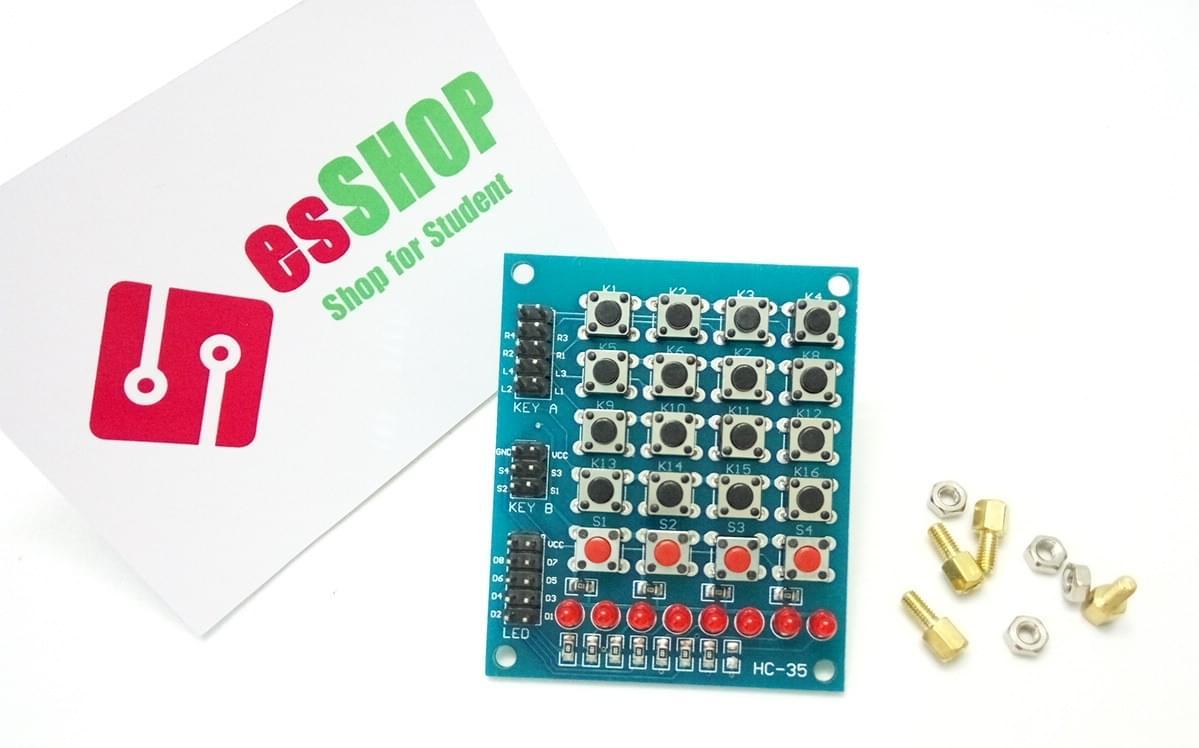 B0128 - Bàn phím 20 nút 8 đèn HC-35