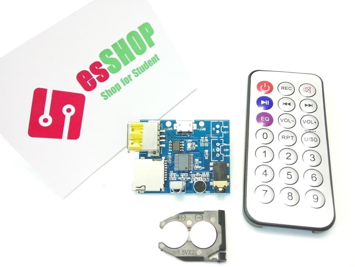 B0130 - Module nghe nhạc MP3 + WAV + WMA kèm remote điểu khiển