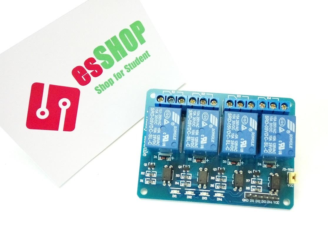 B0159 - Module 4 Relay Với Opto Cách Ly 5V