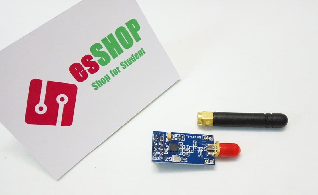 B0213 - Mạch Thu Phát RF CC1101 SPI 433Mhz 500m + Anten