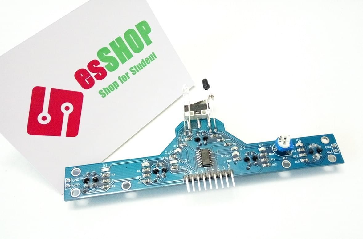 B0250 - Module dò line 5 đèn + Cảm biến tránh vật cản