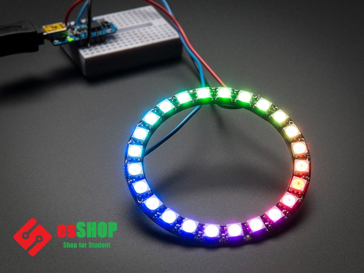 B0323 - Vòng LED WS2812 RGB 5050 16 Bóng