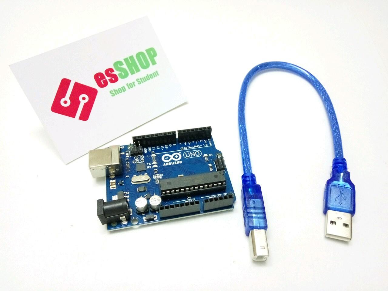 B0378 - Board Arduino UNO R3 Chip Cắm + Kèm Cáp
