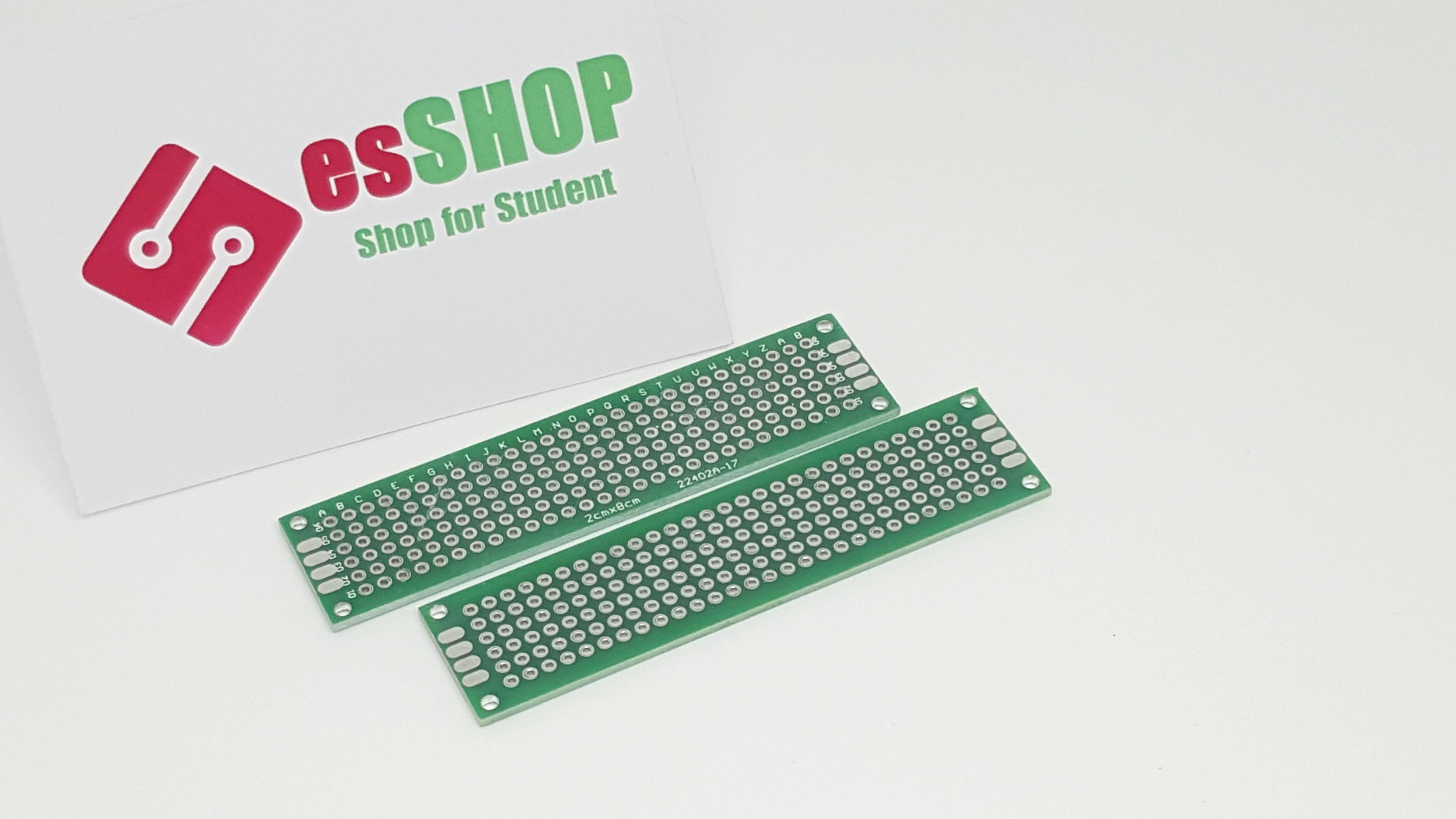 B0453 - PCB 2x8cm 2 mặt phủ xanh