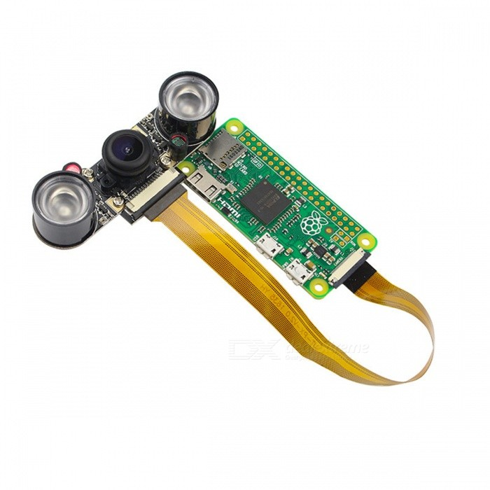 B0461 - Camera nhìn đêm Raspbery + Kính lọc IR + Len mắt cá + đèn hồng ngoại kèm cảm biến ánh sáng