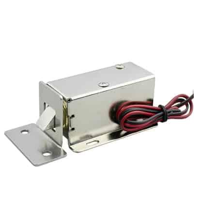B0474 - Khóa chốt cửa điện từ thường đóng 12VDC + Pad