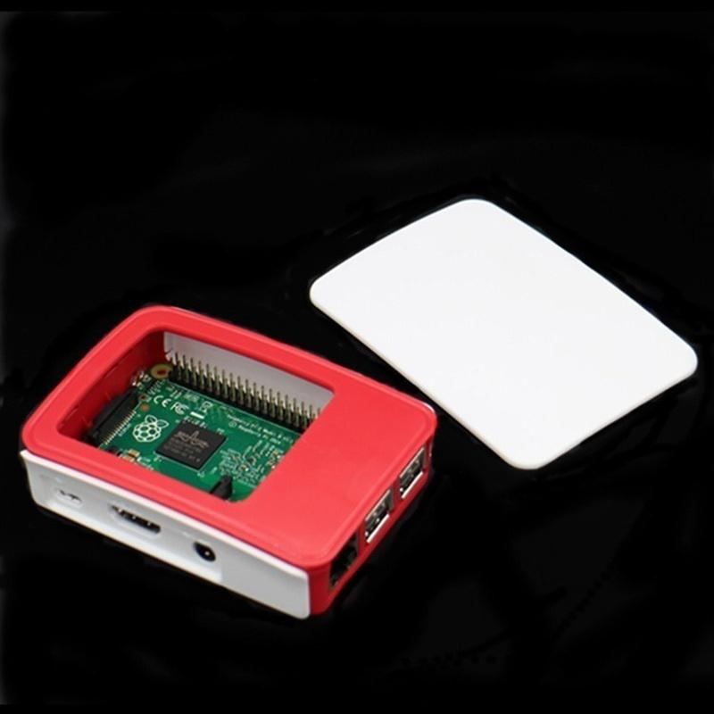 C0216 - Hộp Raspberry Pi 3 đỏ trắng