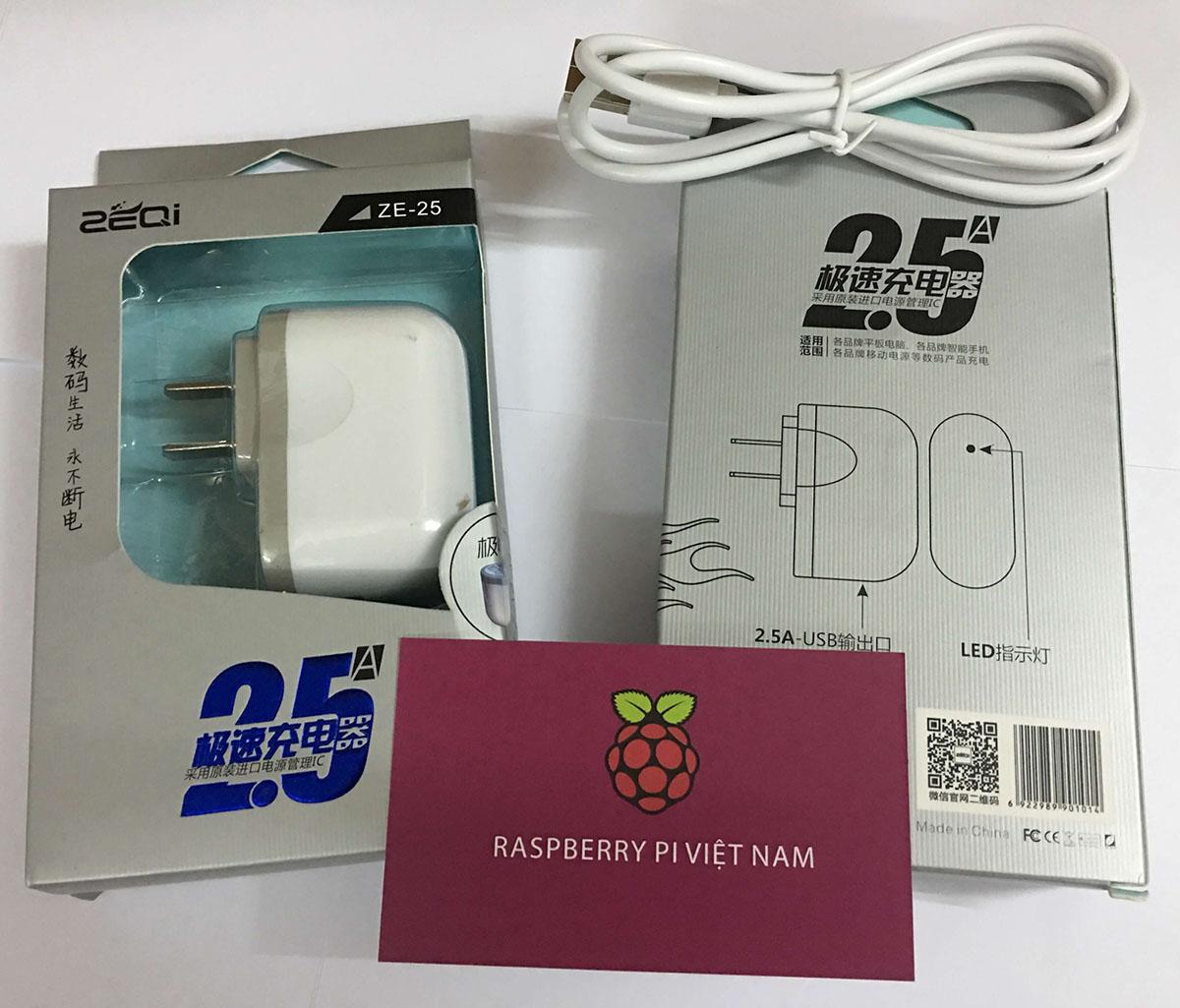 C0217 - Nguồn Raspberry Pi 3 - 5V 2.5A