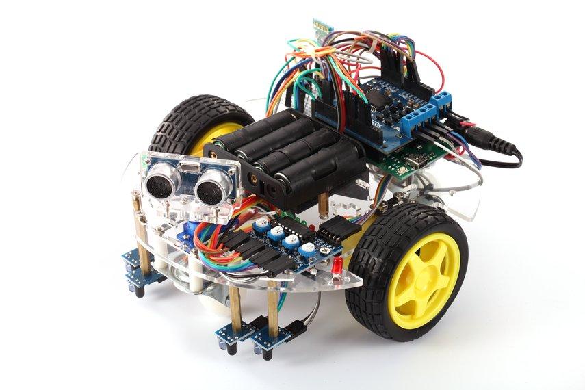 D0107 - Khung xe Robot 2 động cơ