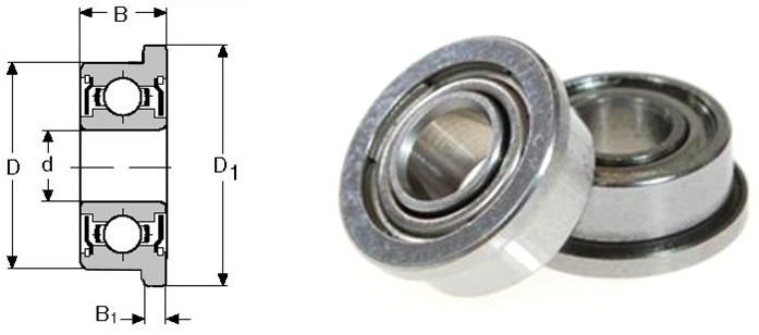 B0402 - Ổ bi ngạnh tròn F623ZZ