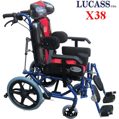 Xe lăn Lucass X38 ngả nằm cho người bại não