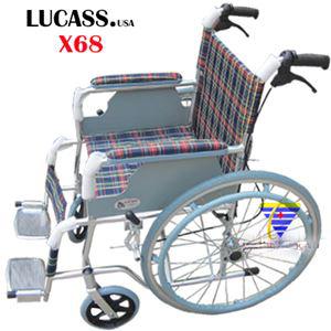 Xe lăn hợp kim nhôm có phanh Lucass X68