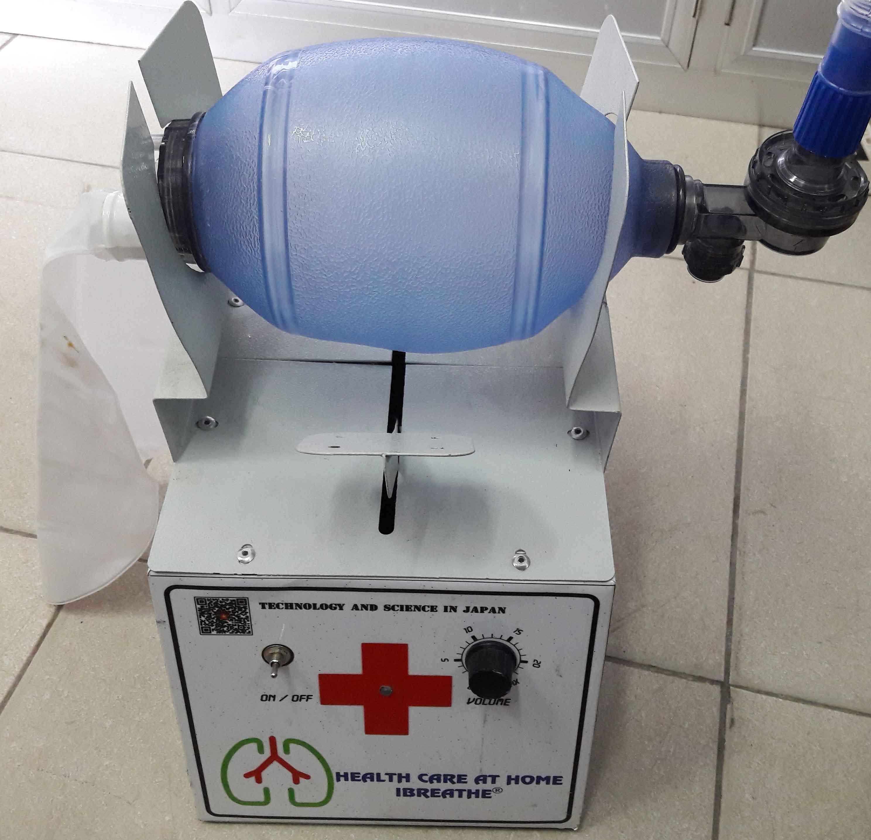 Máy bóp bóng ambu trợ thở tự chế