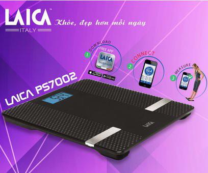 Cân điện tử BMI Bluetooth LAICA PS7002