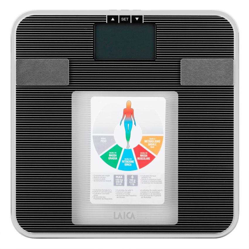 Cân BMI đo tỉ lệ mỡ nước LAICA PS5008