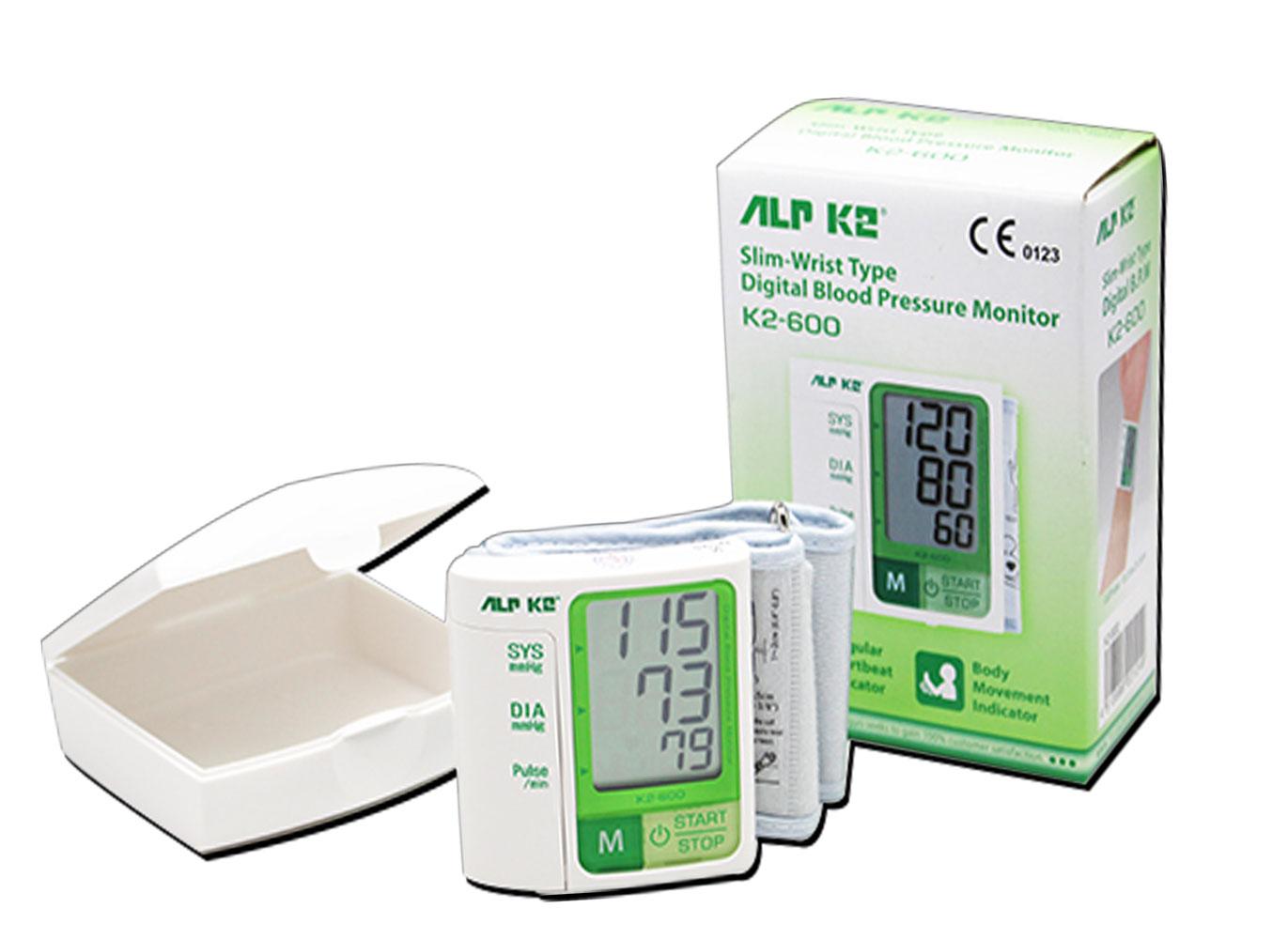 Máy đo huyết áp cổ tay ALPK2 K2-600-made in Japan