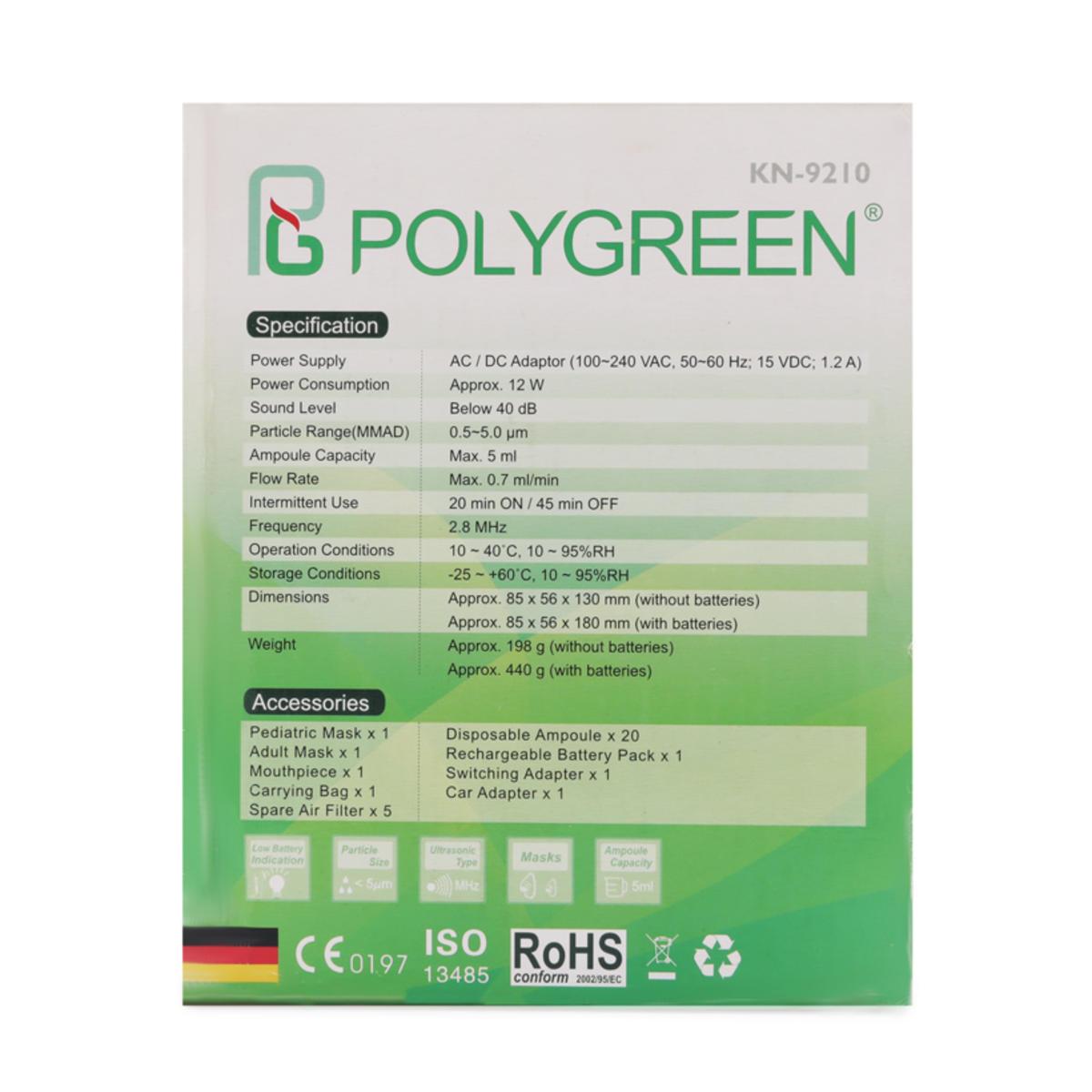 Máy xông khí dung siêu âm PolyGreen KN-9210