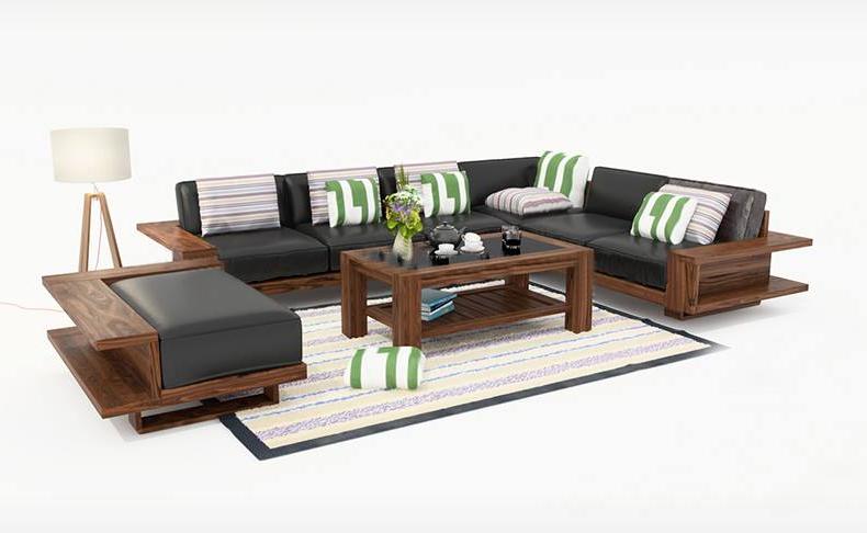 Bàn ghế sofa gỗ đẹp mẫu số 4