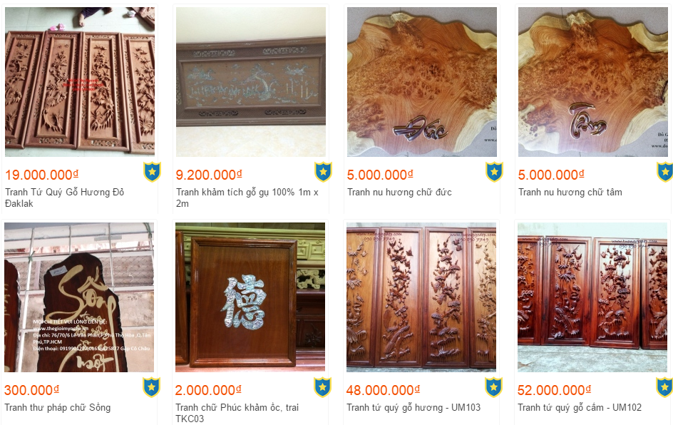 tranh gỗ giá bao nhiêu