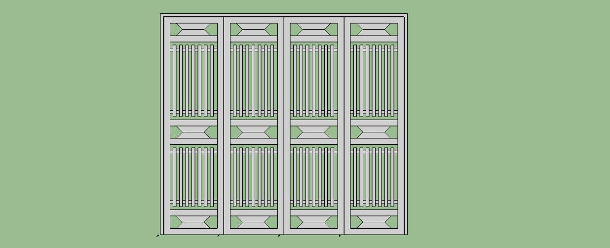 Cấu tạo mẫu cửa sắt hộp 4 cánh