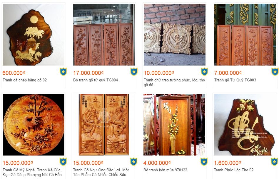 giá tranh gỗ