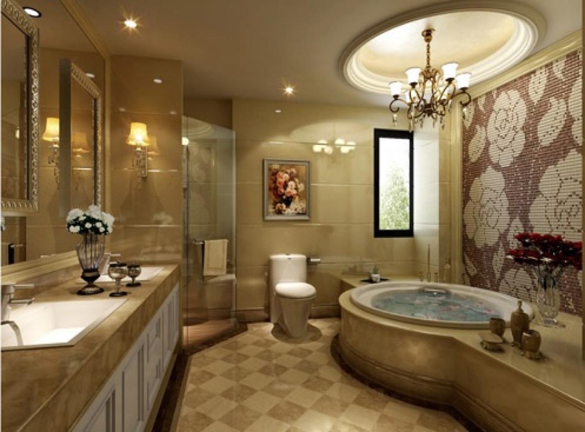 Thiết kế phòng tắm biệt thự cổ điển