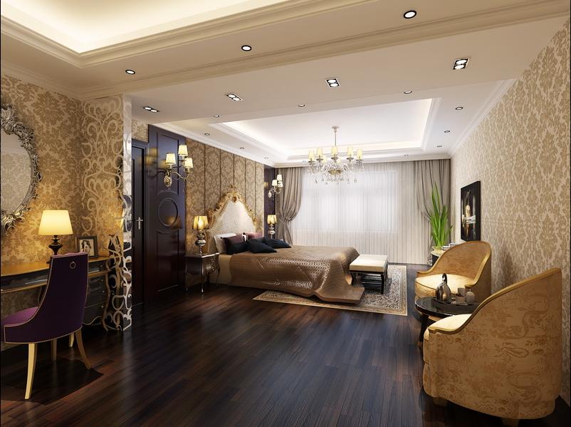 Thiết kế phòng ngủ biệt thự phong cách cổ điển