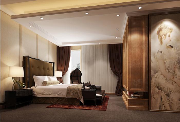 Thiết kế nội thất phòng ngủ biệt thự tân cổ điển đẹp