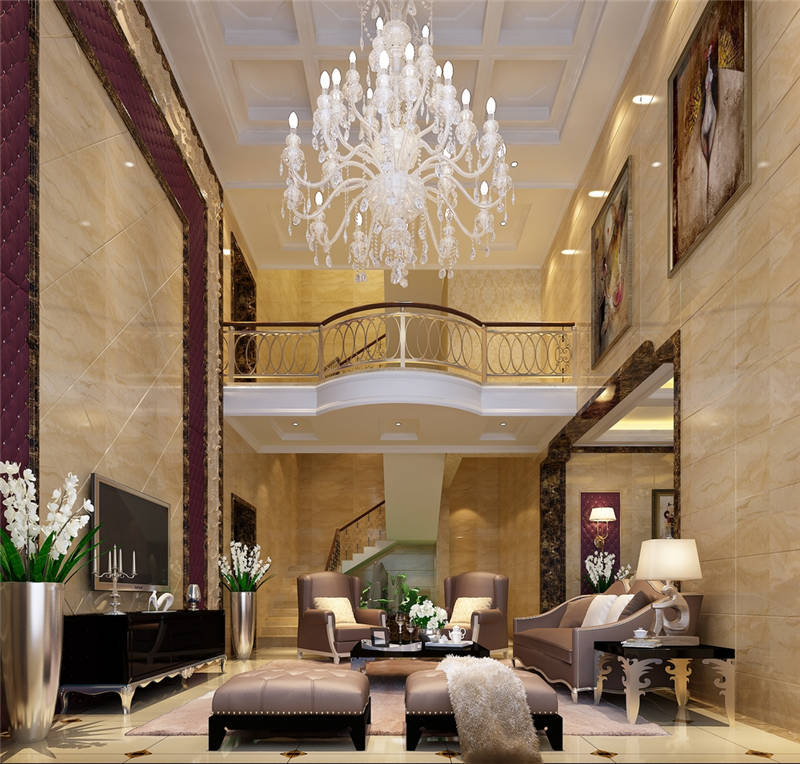 Thiết kế phòng khách biệt thự tân cổ điển đẹp