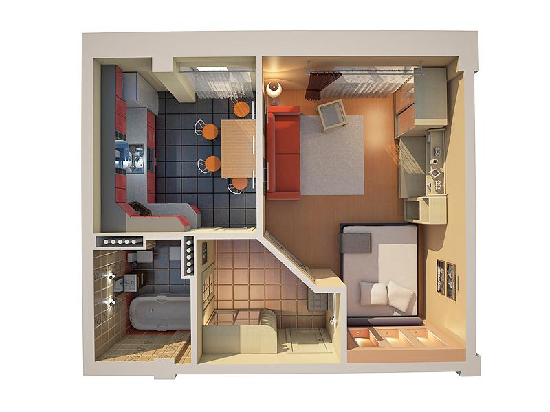 Phối cảnh chung cư mini đẹp