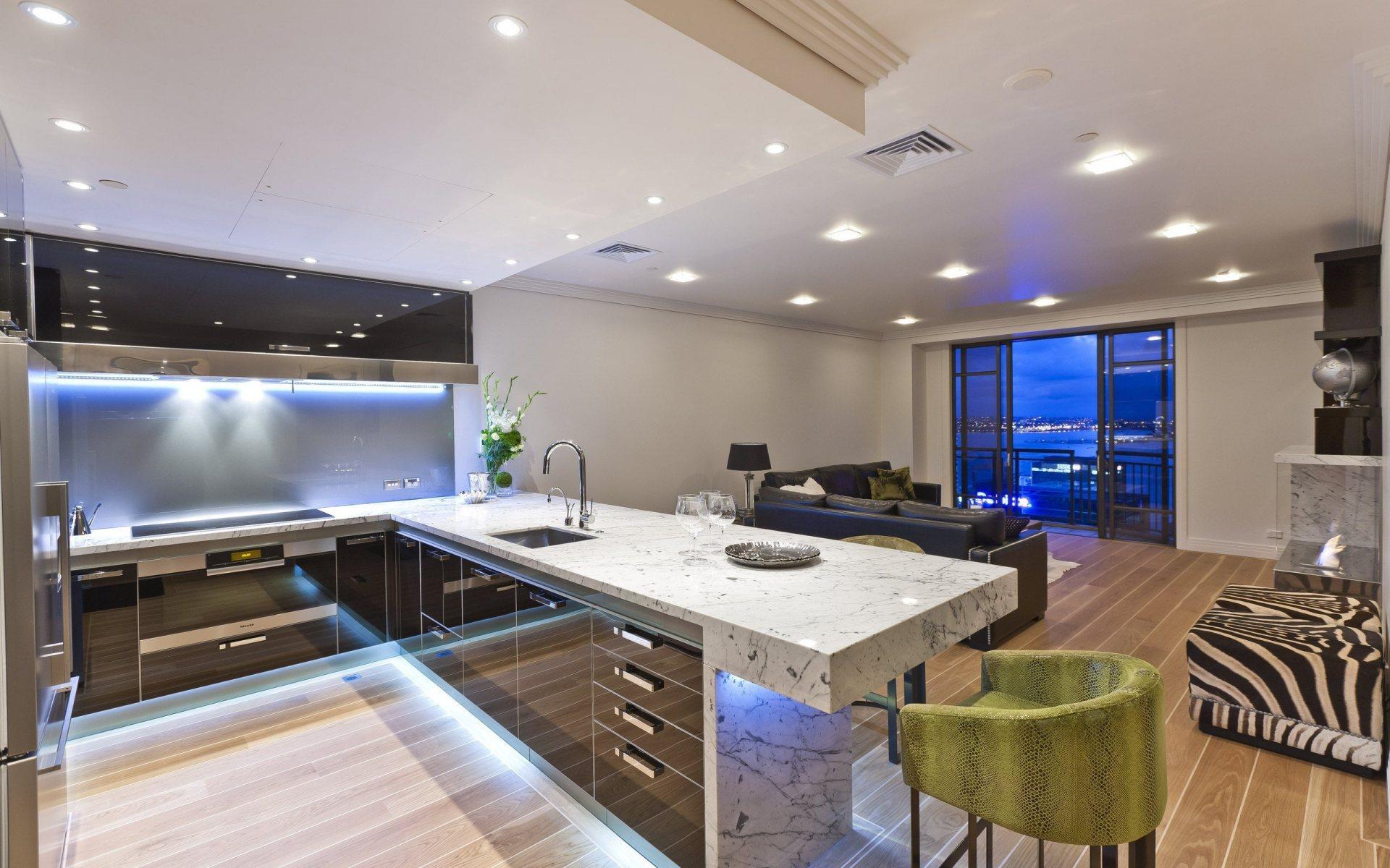 Thiết kế phòng bếp chung cư ấn tượng