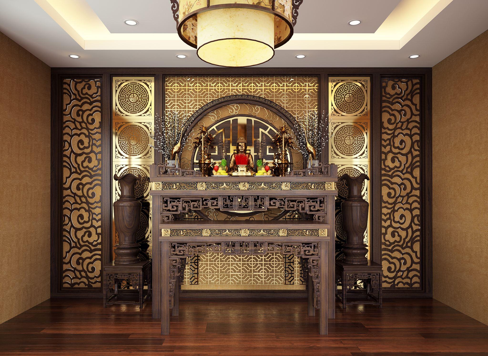 thiết kế phòng thờ đẹp
