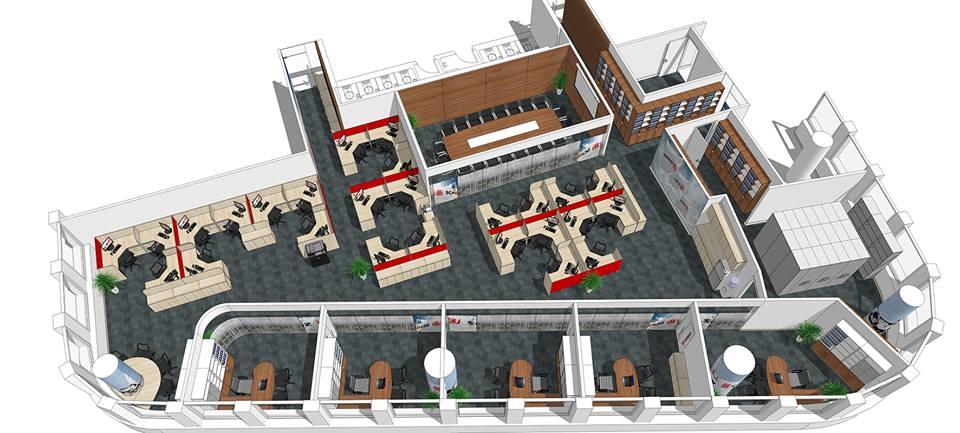 Bản vẽ thiết kế văn phòng 3D đẹp