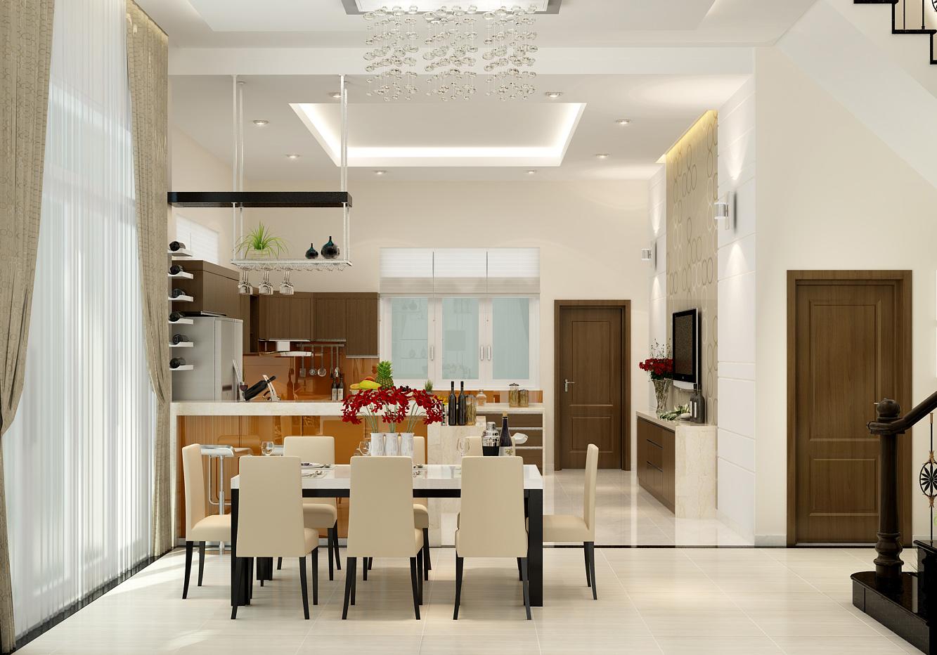 Mẫu trần thạch cao phòng bếp đẹp nhất